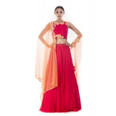 Anushree Agarwal Rani Pink Lehenga