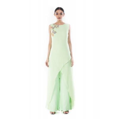 Anushree Agarwal Fern Green Tunic and Palazzo