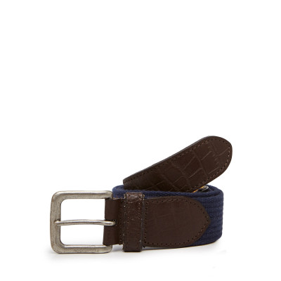 Camelio Canvas and Leather Belt