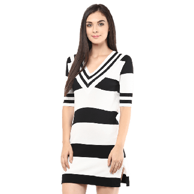 Remanika Striped Knitted Dress