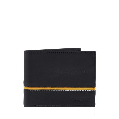 Camelio Contrast Tape-in Leather Wallet