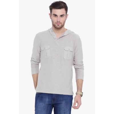 Arise By Beroe Smoky Hooded T-Shirt With Pockets