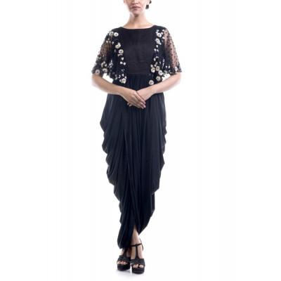 Anushree Agarwal Black Dhoti Style Dress