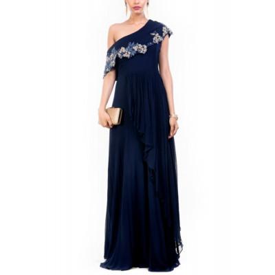 Anushree Agarwal Navy Blue Gown