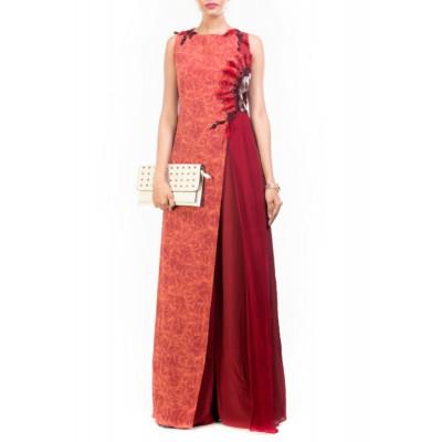 Anushree Agarwal Red Jumpsuit