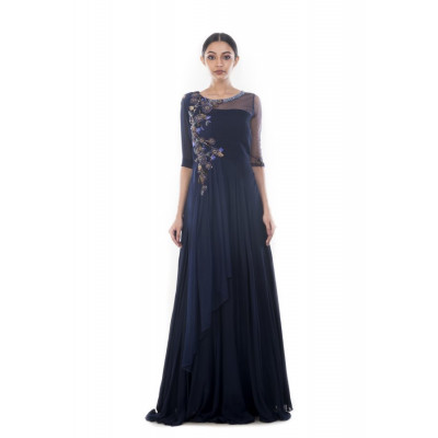 Anushree Agarwal Royal Blue Gown