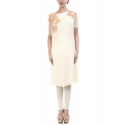 Anushree Agarwal Ivory Embellished Tunic