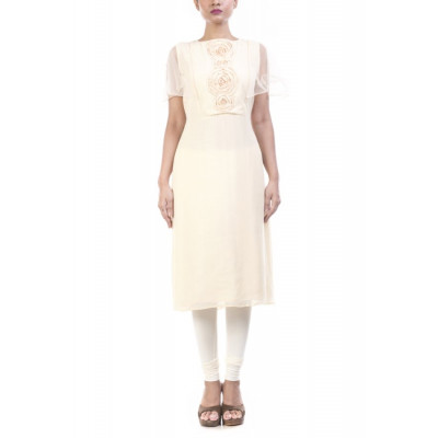 Anushree Agarwal Ivory Rose Tunic