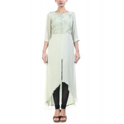 Anushree Agarwal Pista Green Pin tucked Tunic