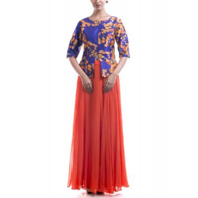 Anushree Agarwal Bougainvillea Raw Silk Jacket