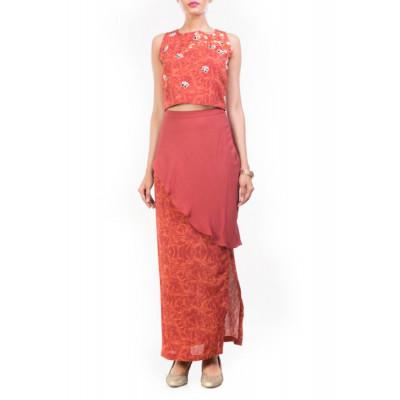 Anushree Agarwal Printed Crop Top & Skirt Set