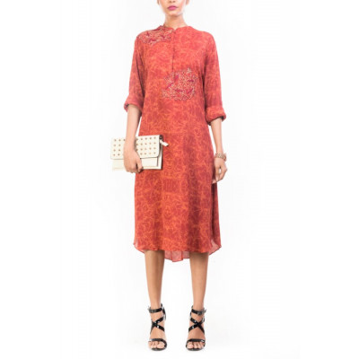 Anushree Agarwal Red Shift Dress