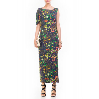 Anushree Agarwal Blue Printed Pencil Dress