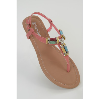 Pierre Dumas Embellished Toe Post Sandals