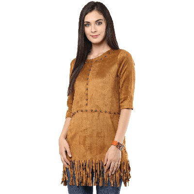 Remanika Knitted Tunic With Tassels