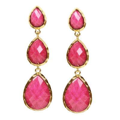 Amrita Singh East Hampton Pink Marbled Resin Earrings