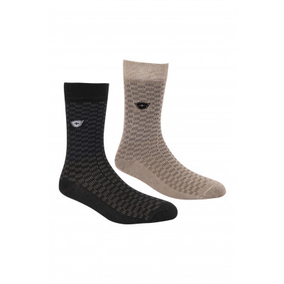 Silver Guard Brick Pattern Crew Length Socks