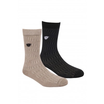 Silver Guard Zig Zag Crew Length Socks