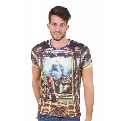 HouseOfFett Medieval Church Print Short Sleeve T-shirt