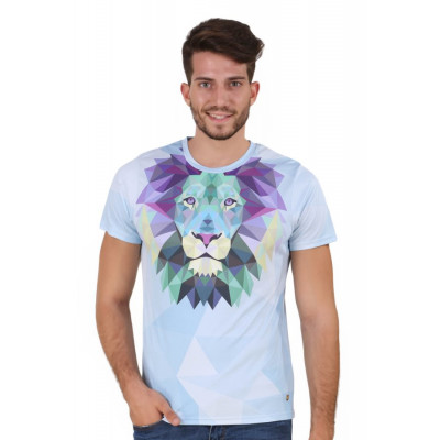 HouseOfFett Lion Print Short Sleeve T-shirt
