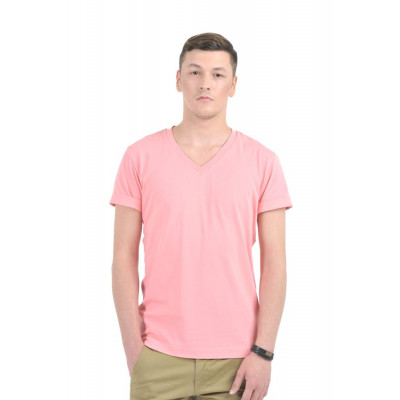 HouseOfFett Pink V-Neck T-shirt