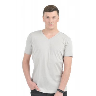 HouseOfFett Grey V-Neck T-shirt