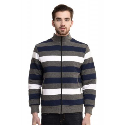 HouseOfFett Classic Striped Zipper Jacket