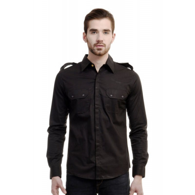 HouseOfFett Black Shirt With Shoulder Mark