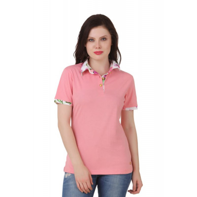 House of Fett Bright Floral Polo Pink