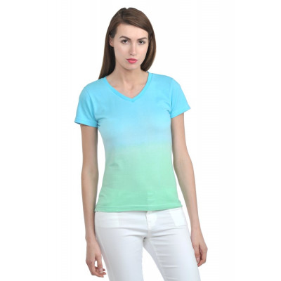 House of Fett Blue And Green Ombre T-shirt