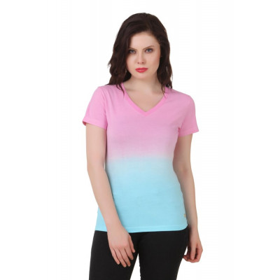 House of Fett Blue And Pink Ombre T-shirt