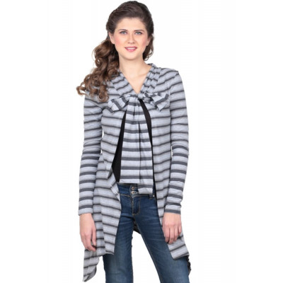 House of Fett Black and Grey Striped Cape