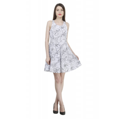 House of Fett Fit and Flare Floral Dress