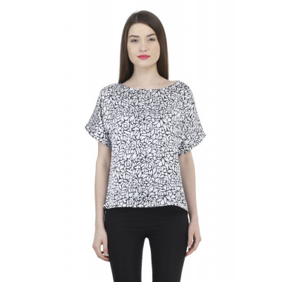 House of Fett Floral Print Top