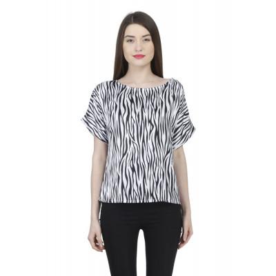 House of Fett Zebra Print Top
