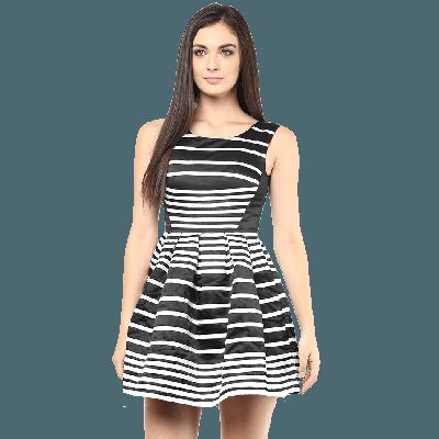 Remanika Striped Knitted Mini Dress