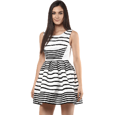 Remanika Striped Knitted Mini Dress