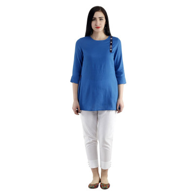 Uptown Galeria Royal Blue Kurta
