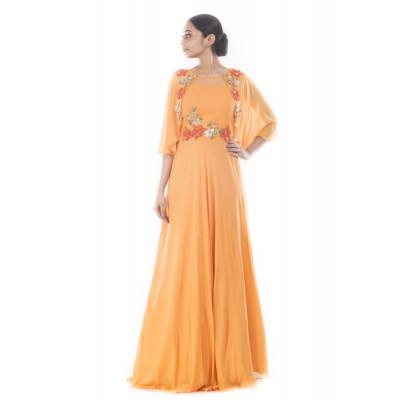 Anju Agarwal Mustard Yellow Gown