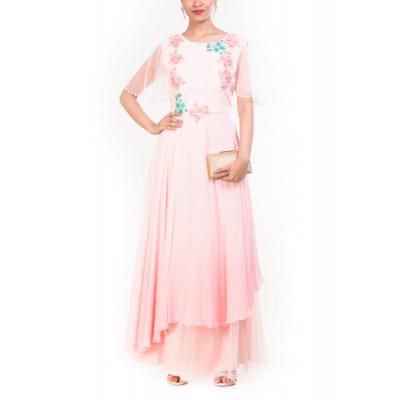 Anju Agarwal Light Pink Gown