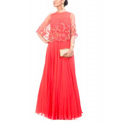 Anju Agarwal Red Gown