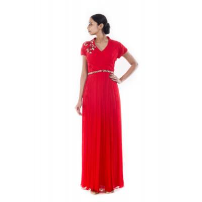 Anju Agarwal Scarlet Red Gown