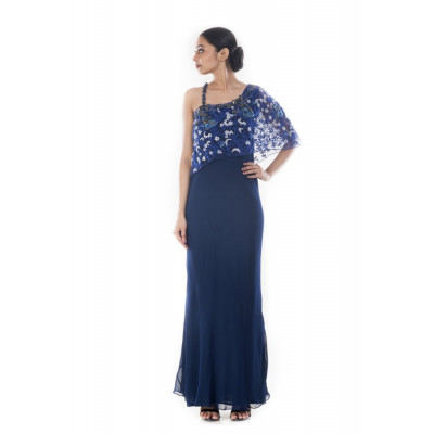 Anju Agarwal Midnight Blue Gown