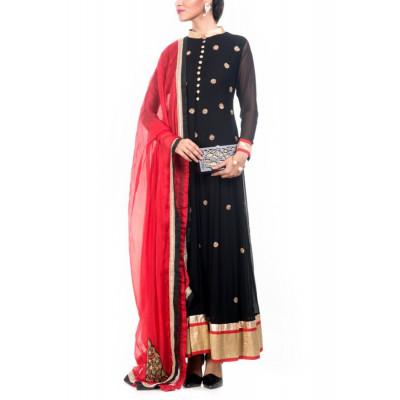 Anju Agarwal Black Anarkali
