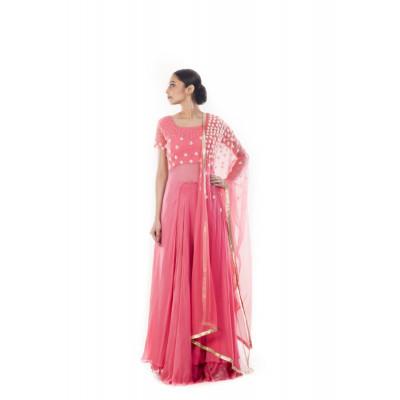 Anju Agarwal Pink Lehenga Set
