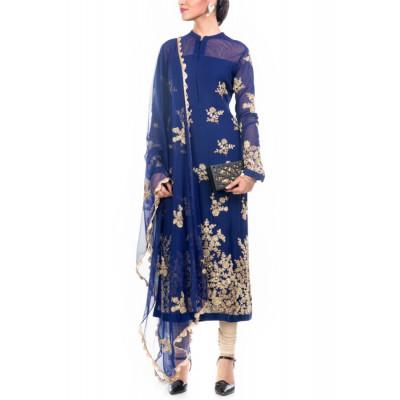 Anju Agarwal Blue Tunic
