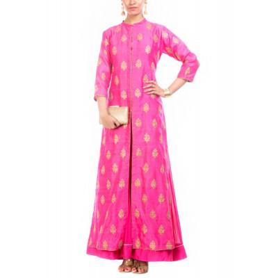 Anju Agarwal Pink Jacket Suit