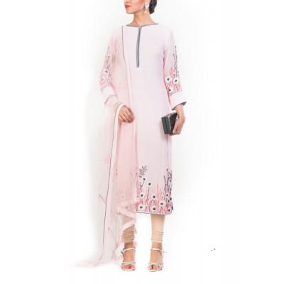 Anju Agarwal Pink Suit Set
