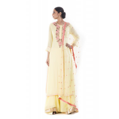 Anju Agarwal Yellow Sharara Set