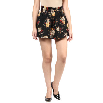Remanika Floral Printed Box Pleated Mini Skirt
